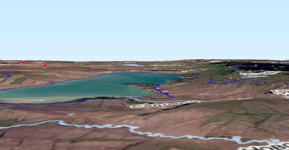 Визуализация рельефа Сенгелеевского водохранилища