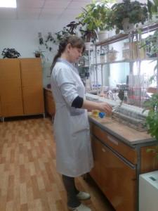 Определение азота, фосфора, калия в листьях пшеницы. Агрохимик I категории ‑ Ангилеева Л.Г.