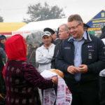 Нефтекумский район встречает губернатора Владимирова Владимира хлебом и солью