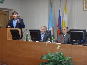 Выступление начальника отдела Олейникова А.Ю. в администрации Шпаковского района