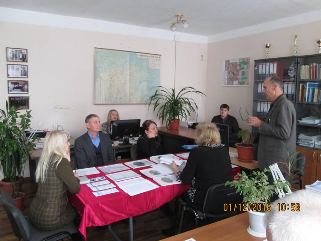 Семинар проводит начальник отдела мониторинга плодородия почв Фурсов А.Д.