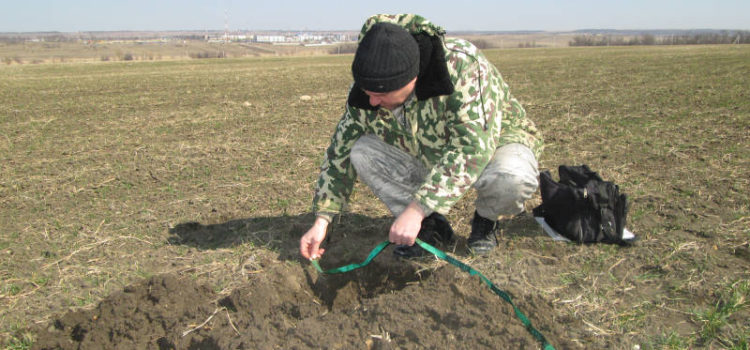 Измерение плодородного слоя почвы