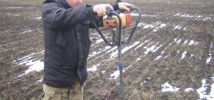 Отбор почвенных образцов в метровом слое почвы в Кировском городском округе