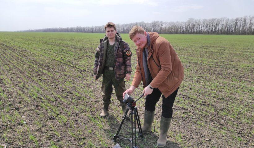 Специалисты ООО «ТЕХИНТЕГРАТОР» проводят съемку посевов озимого ячменя на полях СПК «Дубовский» Шпаковского района